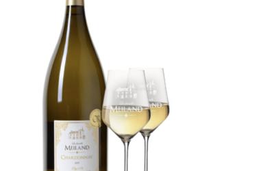 La famille Meiland Chardonnay Magnum met 2 Meilandglazen