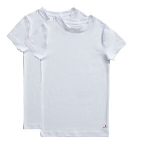 T-shirt wit 2 pack maat 98/104