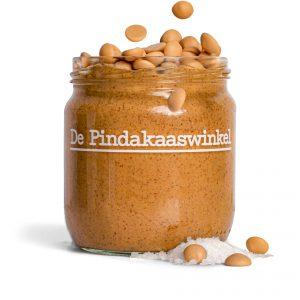Belgische Karamel Chocolade Pindakaas