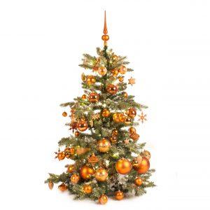 Luxe kunstkerstboom koper warm 120cm