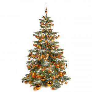 Luxe kunstkerstboom koper warm 210cm