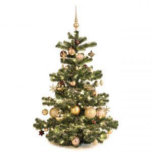 Kunstkerstboom goud mocca 120cm