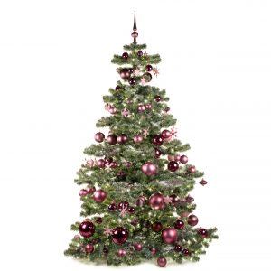 Kunstkerstboom paars milka 210cm