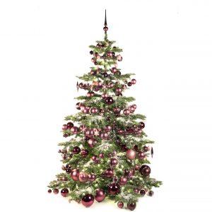Luxe kunstkerstboom paars milka 210cm