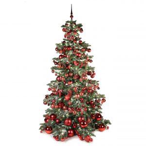 Luxe kunstkerstboom bordeaux warm 240cm