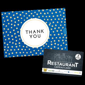 Restaurant Cadeau Card - Thank You