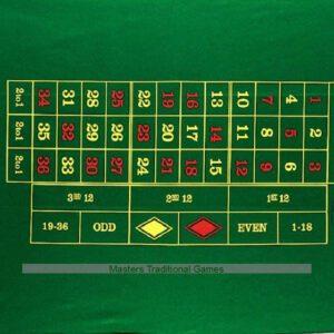 Dal Negro roulettekleed 130 x 90 cm wol groen