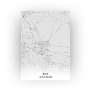 Poster Ede Plattegrond - A1 - Tekening stijl