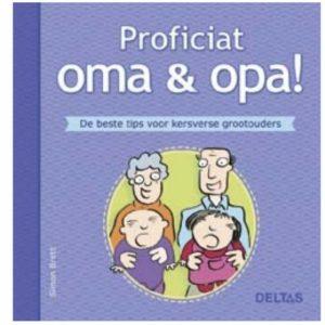 Simon Brett geschenkboek: proficiat oma en opa!