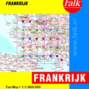 Falk Autokaart Frankrijk Routiq tab map