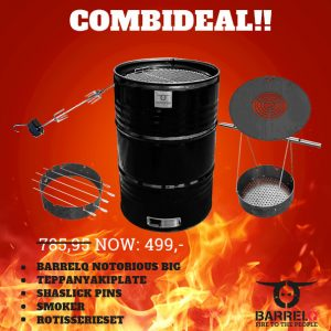 CombiDeal BarrelQ Notorious Big the Works (barbecue plus alle add-ons)