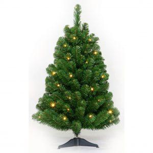Kunstkerstboom Table tree 60cm 24 LED warm wit