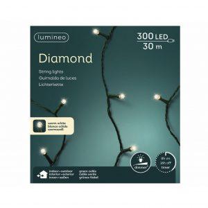 LED diamondverlichting lumineo 300 lamps 'warm wit