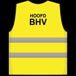 Hoofd BHV hesje geel