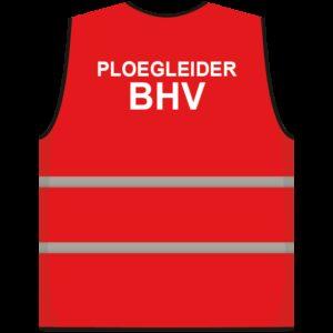Ploegleider BHV hesje rood