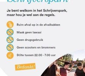 Actie tegen jongerenoverlast in Schrijverswijk Veenendaal