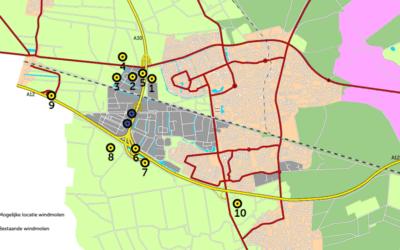 Energiecluster A12-A30: tien locaties voor windmolens