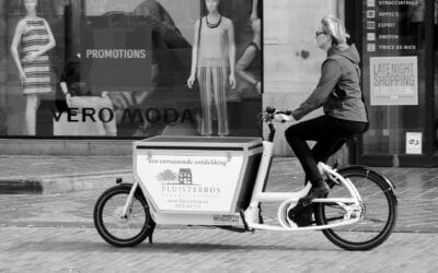 Schoner goederenvervoer in Ede Stad